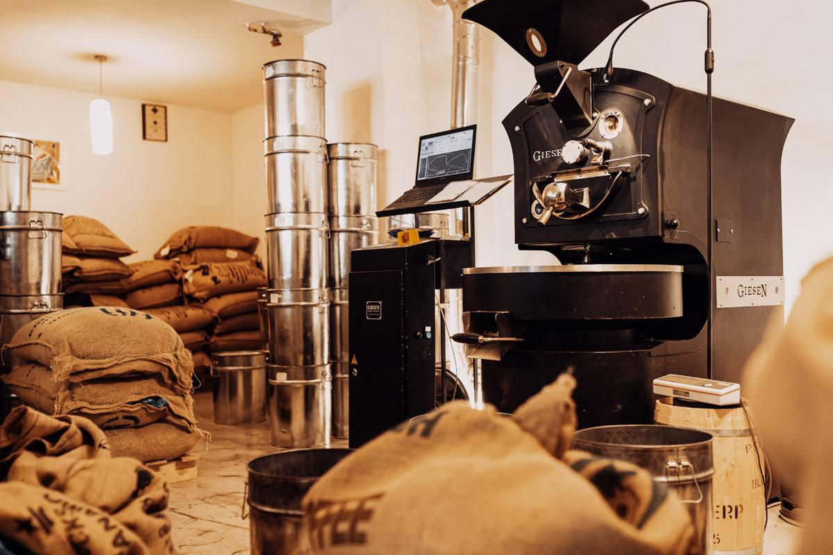 Röstung des Premium Espressos